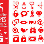Creativemarket Valentines Day Vector Shapes 155419 icon