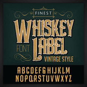 Creativemarket Whiskey label font and sample label 230892 icon