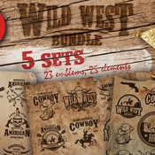 Creativemarket Bundle of vintage wild west sets 230010 icon