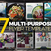 Creativemarket 7 in 1 multipurpose flyers bundle 344134 icon