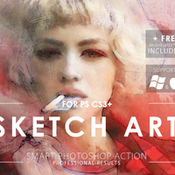 Creativemarket sketch art photoshop action 369141 icon