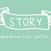 Creativemarket story a handdrawn font just for you 26204 icon
