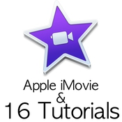 Apple imovie and 16 tutorials logo icon
