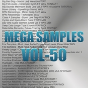 Mega samples vol 50 logo icon