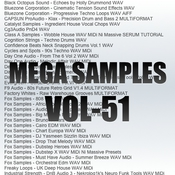 Mega samples vol 51 logo icon