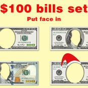 Set of 100 dollar bills with no face 365311 shailab icon