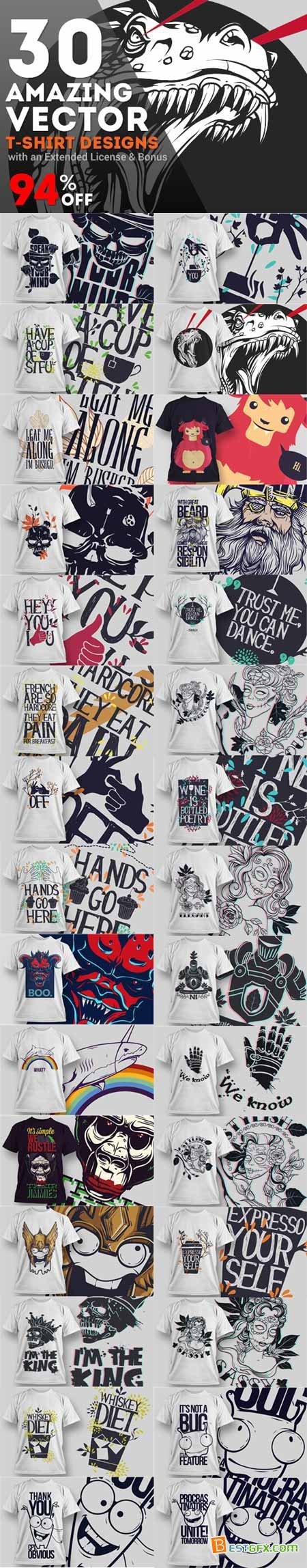 graphicriver_30_amazing_vector_t_shirt_designs_with_an_extended_license_and_bonus_cap