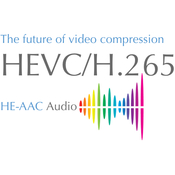 Handbrake h 264 h 265 10 12 bit with he aac logo icon