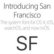 San francisco fonts apple developer august 2015 icon