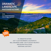 Dramatic landscape photoshop actions 8527307 icon