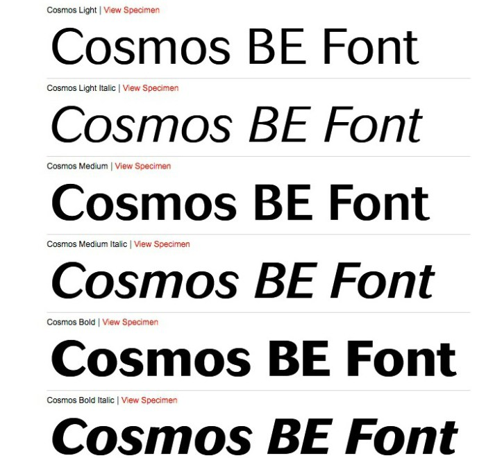 cosmos_be_light_medium_extrabold_by_berthold_font