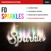 Magic sparkles action for photoshop 11645353 icon