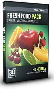 Video copilot fresh food 3d models pack box icon