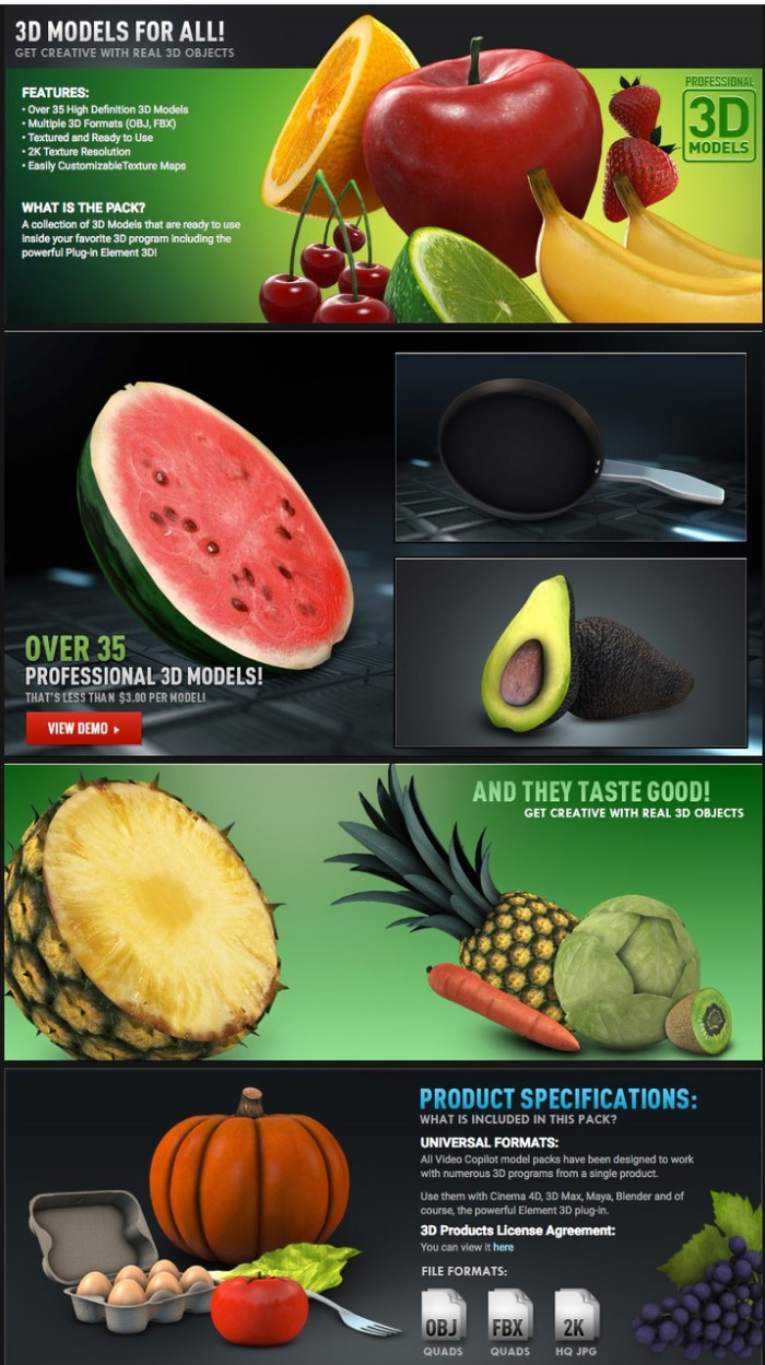 video_copilot_fresh_food_3d_models_pack