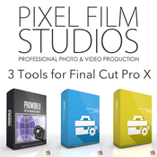 Pixel film studios 3 tools for fcpx logo icon