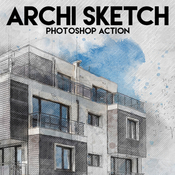 Archi sketch photoshop action by eugene design 16211716 icon