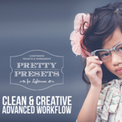 The clean and creative advanced workflow set lightroom presets icon