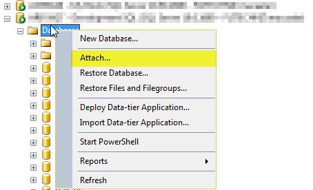 4 Attach Database