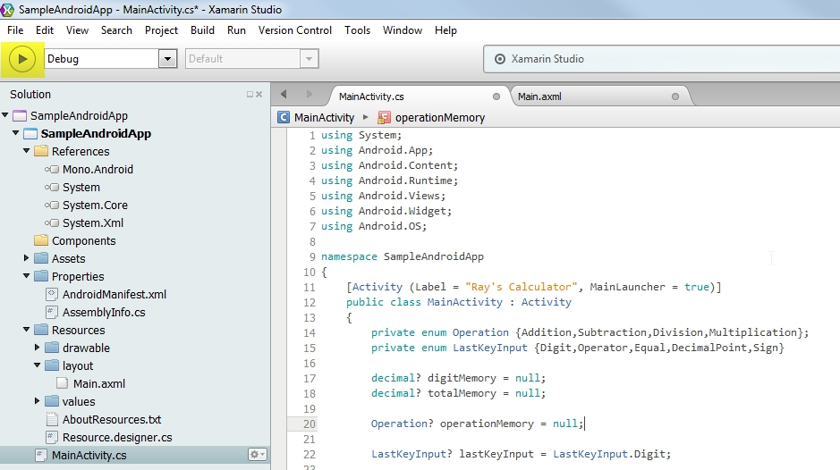 Developing Android Apps using C# – Raymund Macaalay's Dev Blog