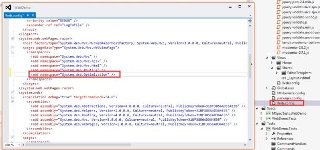 18 Add Web Optimization on Web Config
