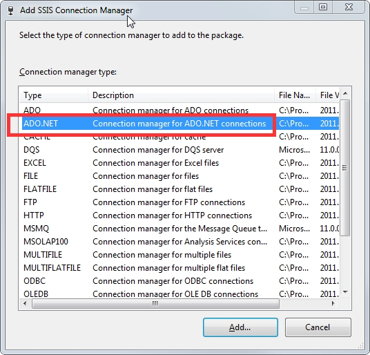 05 New ADO.Net connection