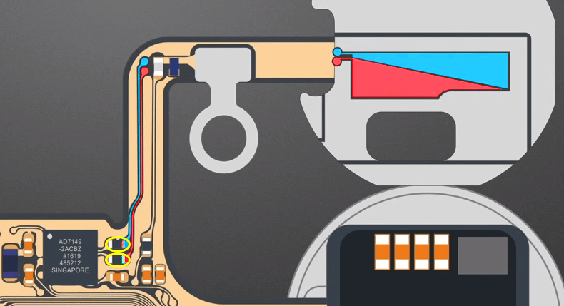 iPhone 7 Home button Capacitive touch Schematic