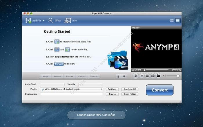 Super MP3 Converter mac