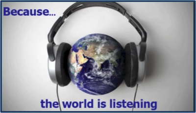 Because the world is listening Macarena Rose Podcast Advertising
