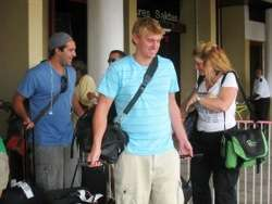 Lance and Mikey at Belize Airport