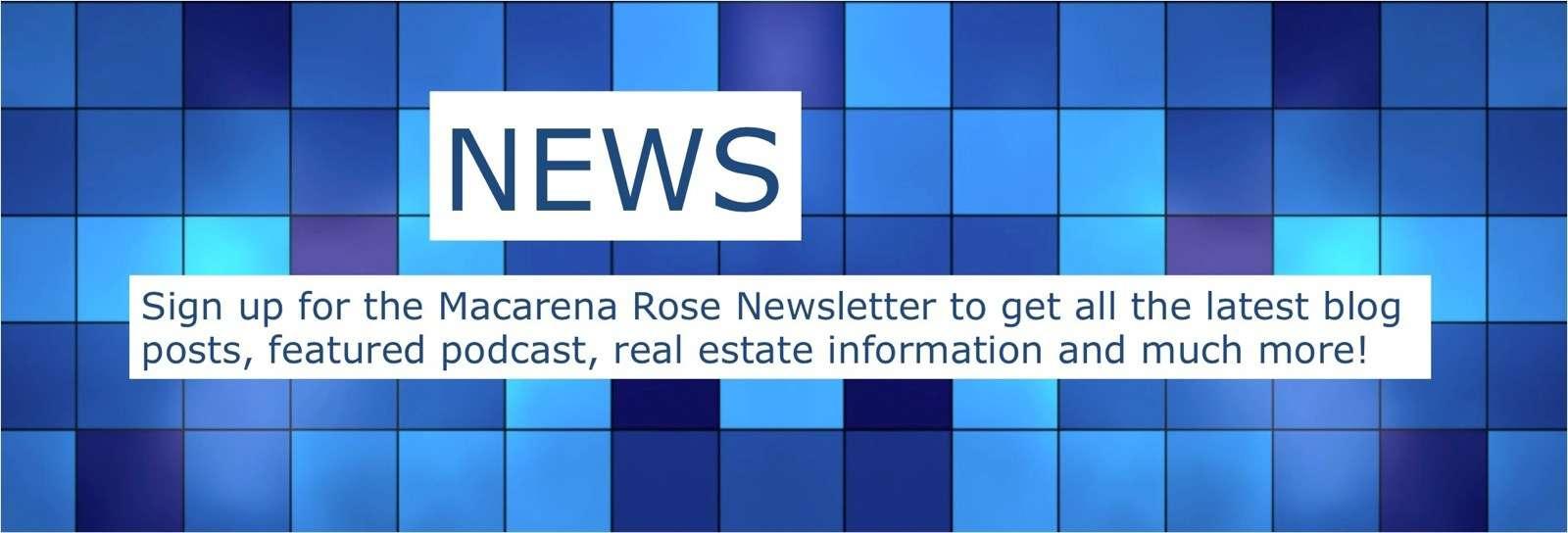 Macarena Rose Newsletter sign up