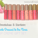 Swatches & Review: Tarte Dressed To The Nines Lip Creme Gift Set