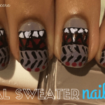 Tribal Sweater Nails