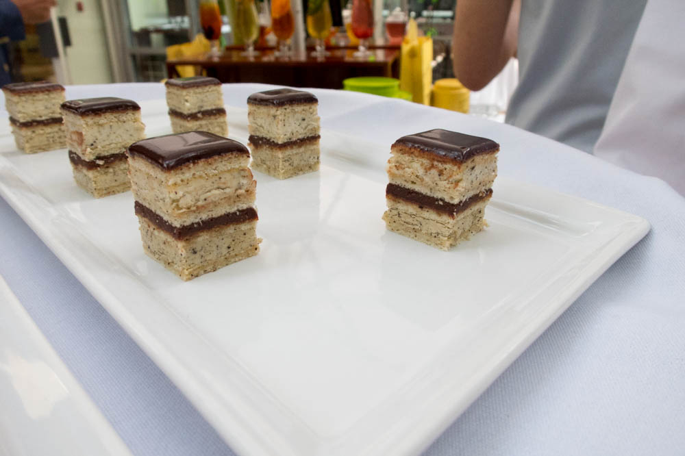 Petit Four Opera Cake infused with French Earl Grey Tea