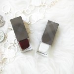Burberry Nail Polish: Optic White & Black Cherry
