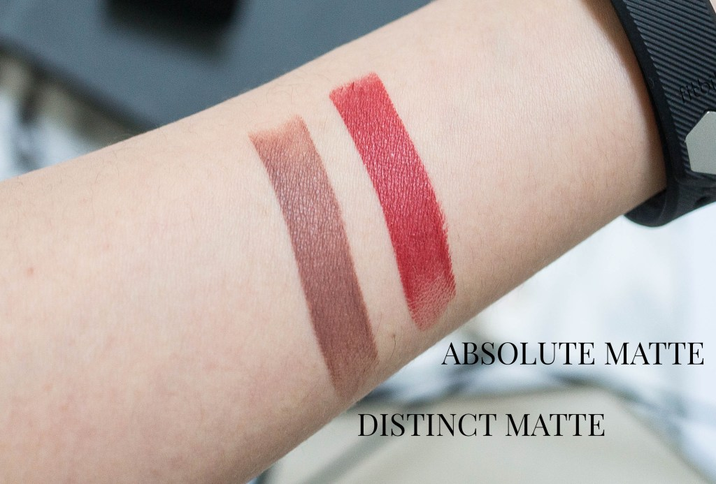 dior rouge lipstick distinct matte absolute matte swatch 1