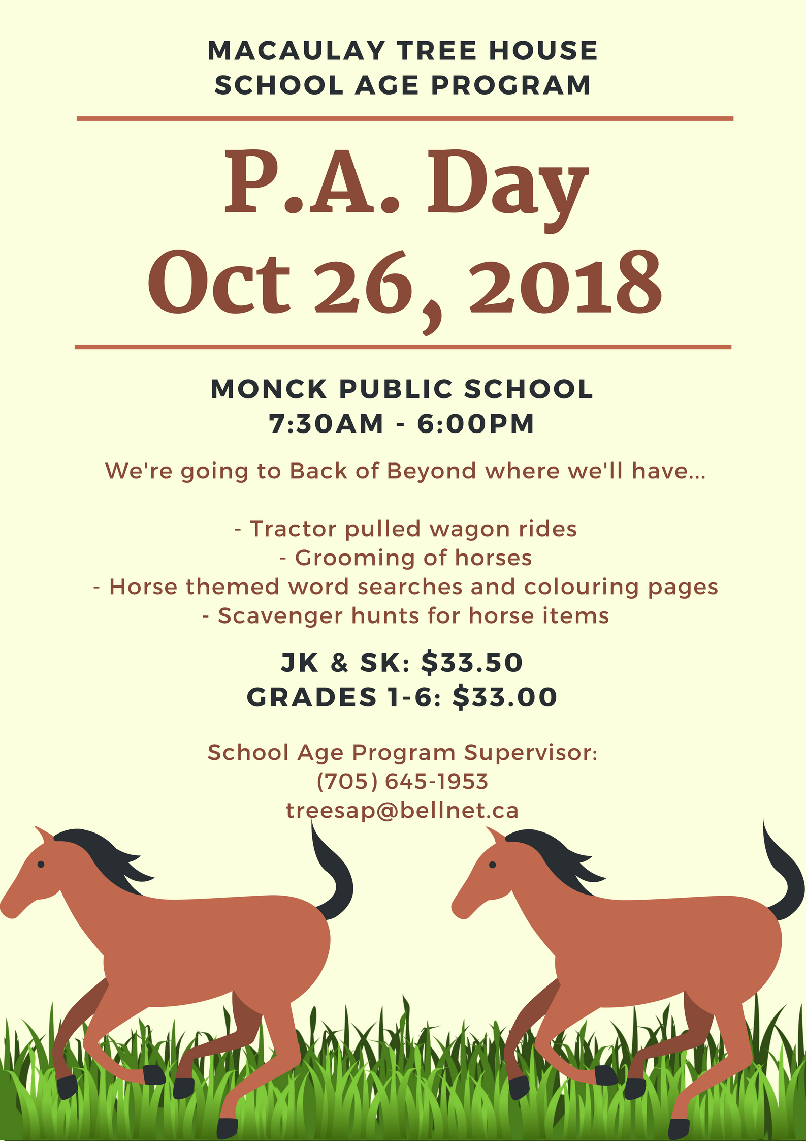 P.A. Day: October 26, 2018
