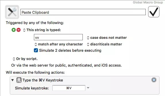 Keyboard Maestro Editor Keyboard Maestro, Today at 6.23.33 PM