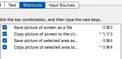 screenshot shortcuts