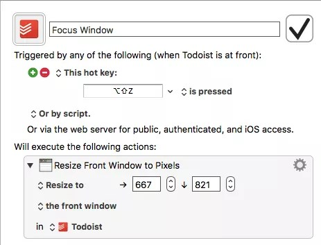 Keyboard Maestro resize window