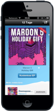 Tag 1 – Maroon 5 Holiday Gift