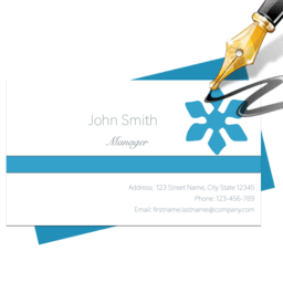 Blue Penguin Business Card Designer 2.62