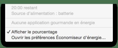 MacBook probleme batterie 20h restant