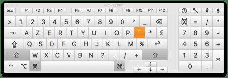 clavier virtuel mac os x Magic Keyboard