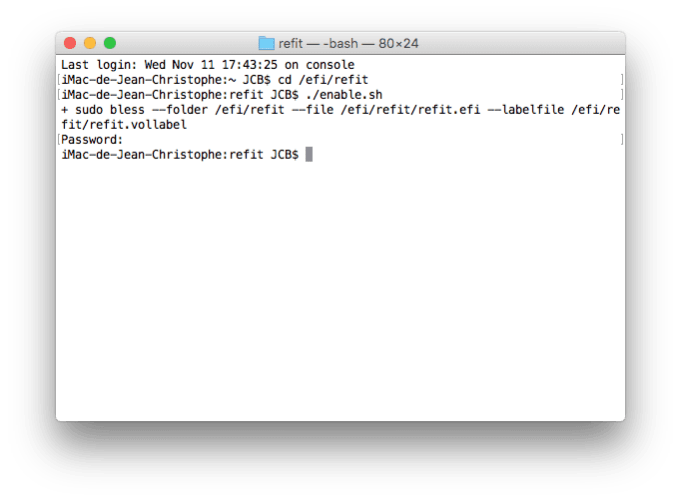 Dual boot Mac OS X El Capitan ubuntu installer refit