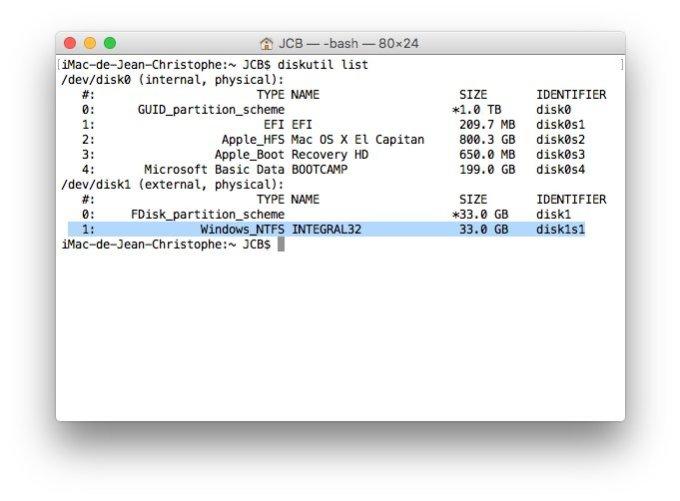 Ejecter un disque sur Mac avec le terminal