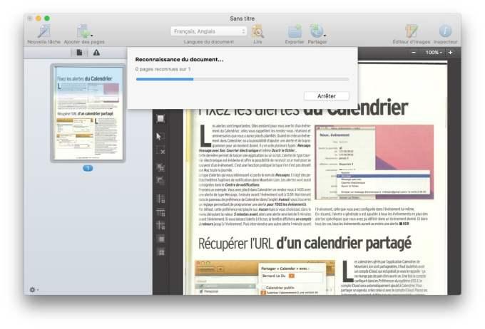 scanner sur mac reconnaissance de document