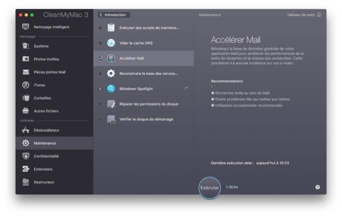 Accelerer Apple Mail Mac avec cmm3