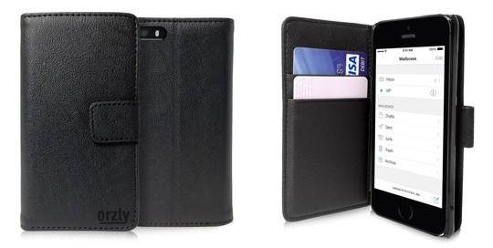 iPhone 5 Orzly Wallet Case Cover Portafogli - Chiuso - Aperto