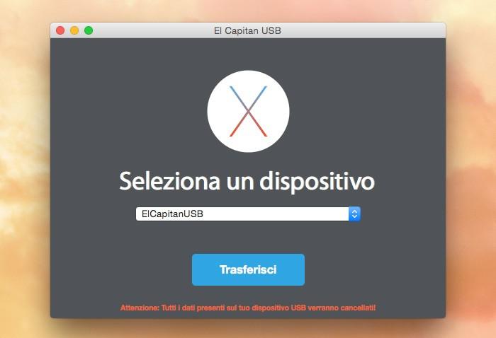 App El Capitan USB