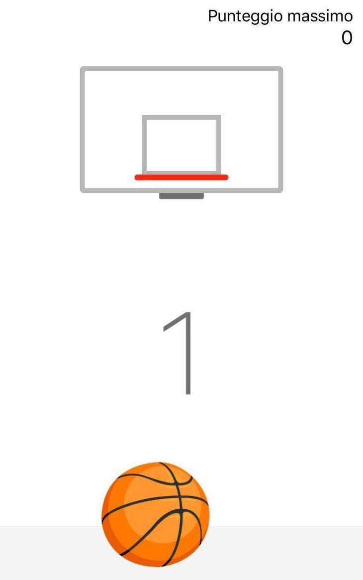 Gioco del basket su Facebook Messenger